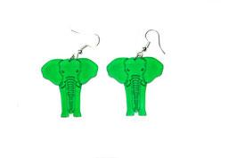 Boucles d'oreilles modèle éléphant