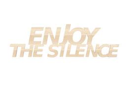 """""""Enjoy the silence"""" en contreplaque peuplier"""