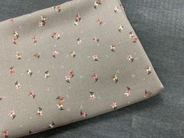 Stoffpaket grau Streublümchen