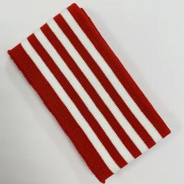 Bündchen Streifen rot weiß