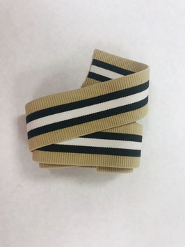 Bündchengummi beige schwarz weiß Streifen