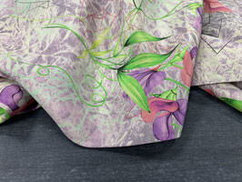 Stoffpaket Seide natur lila pink