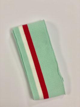 Bündchen Streifen mint pink weiß