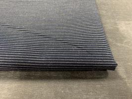 Stoffpaket Bluse blau weiß Streifen