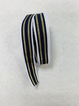 Ripsband weiß blau gold schmal