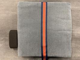 Nähpakt Hose Cord grau blau