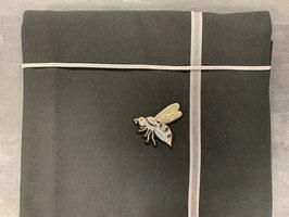 Nähpaket Sweatshirt schwarz Biene