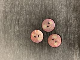 Knopf Perlmutt rosa Blume