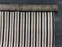 Nähpaket Hose natur schwarz Streifen