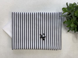 Nähpaket 'Bluse Streifen grau weiß breit'
