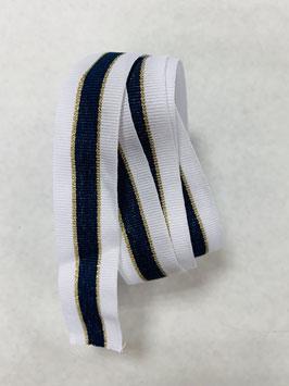 Ripsband weiß gold blau