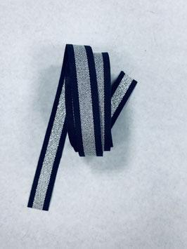 Ripsband blau silber