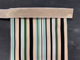 Nähpaket Hose Tencel schwarz grün Streifen