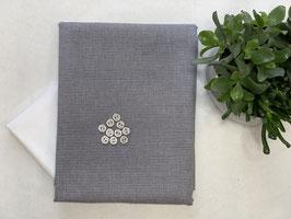 Nähpaket 'Bluse Streifen grau weiß'
