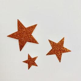 Bügelmotiv 'Sterne' 3-teilig