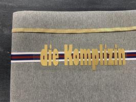 Nähpaket Sweatshirt grau gold