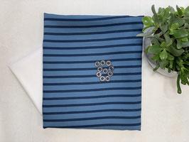 Nähpaket 'Streifen Bluse blau'