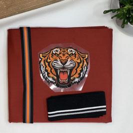 Nähpaket Shirt rost rot Tiger