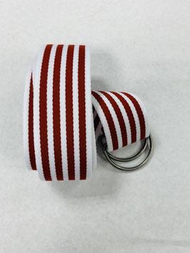 Gürtelpäckchen in weiß-rot-silber