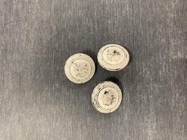 Metallknopf silber weiß