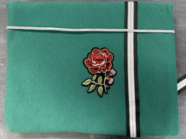 Nähpaket Sweatshirt grün Blume