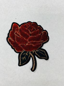 Bügelmotiv 'Blume Roségold'