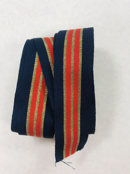 Ripsband Streifen blau orange gold Streifen
