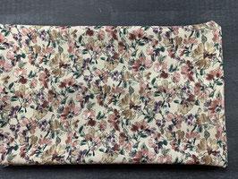 Stoffpaket Viskose natur Blumen
