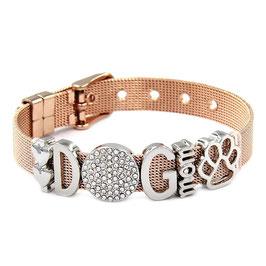 DOGMOM Armband Rosé/Silber