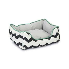 Bett Ligy schwarz weiß