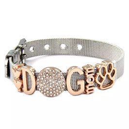 DOGMOM Armband Silber/Rosé