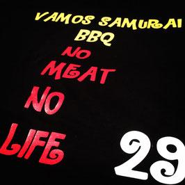 vamos samurai BBQ Tシャツ ブラック