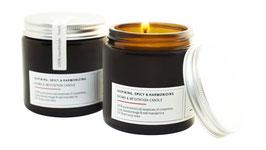 AYURVEDIC WINTER SPICES Aromatherapie- & Meditationskerze aus reinem ECO-Sojawachs & 100 % puren botanischen Essenzen