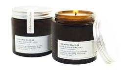 SOOTHING & RELAXING Aromatherapie- & Meditationskerze aus reinem ECO-Sojawachs & 100 % puren botanischen Essenzen
