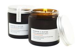 REFRESHING & UPLIFTING Aromatherapie- & Meditationskerze aus reinem ECO-Sojawachs & 100 % puren botanischen Essenzen
