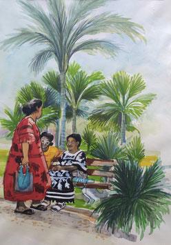 Jardin public à Nouméa