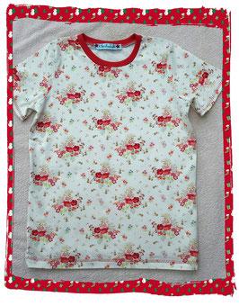 T-Shirt mit wunderschönem Rosenmuster!