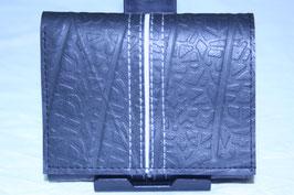 三つ折り財布(ブラック×ホワイト)