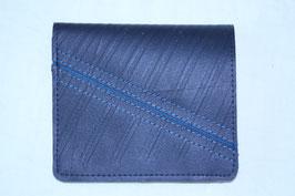 二つ折り財布(ブラック×ブルー)