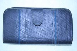 長財布(ブラック×ブルー)