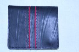 二つ折り財布(ブラック×レッド)