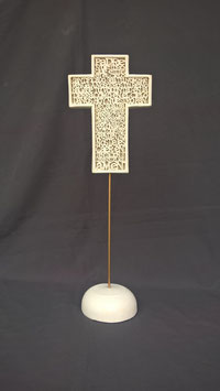 CT101BM CRUZ PADRE NUESTRO LETRAS RELIEVE