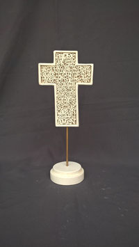 CT101BR CRUZ PADRE NUESTRO LETRAS RELIEVE