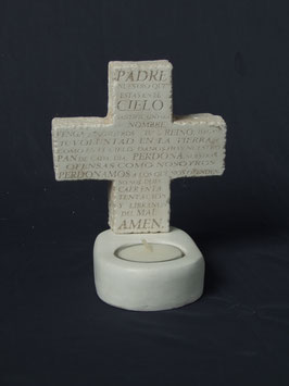 CT01TL CRUZ PADRE NUESTRO TEA LIGHT