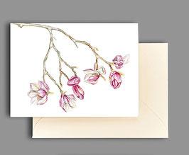 Grußkarte Magnolienzweig Artikelnr. kl279