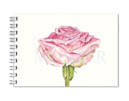 Ringbuch Rose DinA5 handgebunden