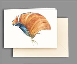 Grußkarte Mandarinentenfeder Artikelnr. kl306