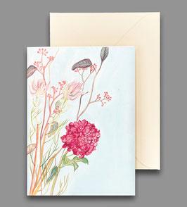 Grußkarte Hortensie mit blushing bride Artikelnr. kl 253