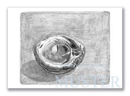 Kunstkarte Versteinerte Muschel Artikelnr. s106