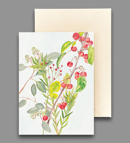 Grußkarte Zierapfelzweig Artikelnr. kl 255